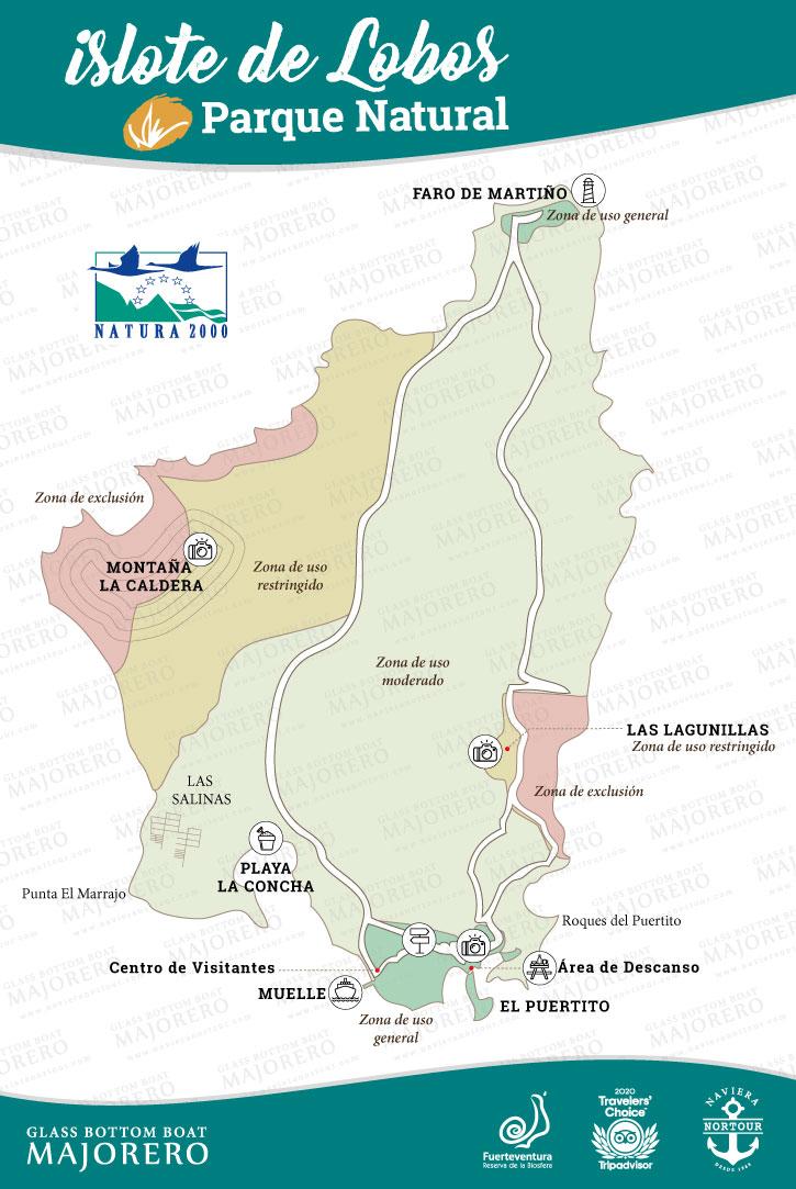 Wyspa Lobos Mapie