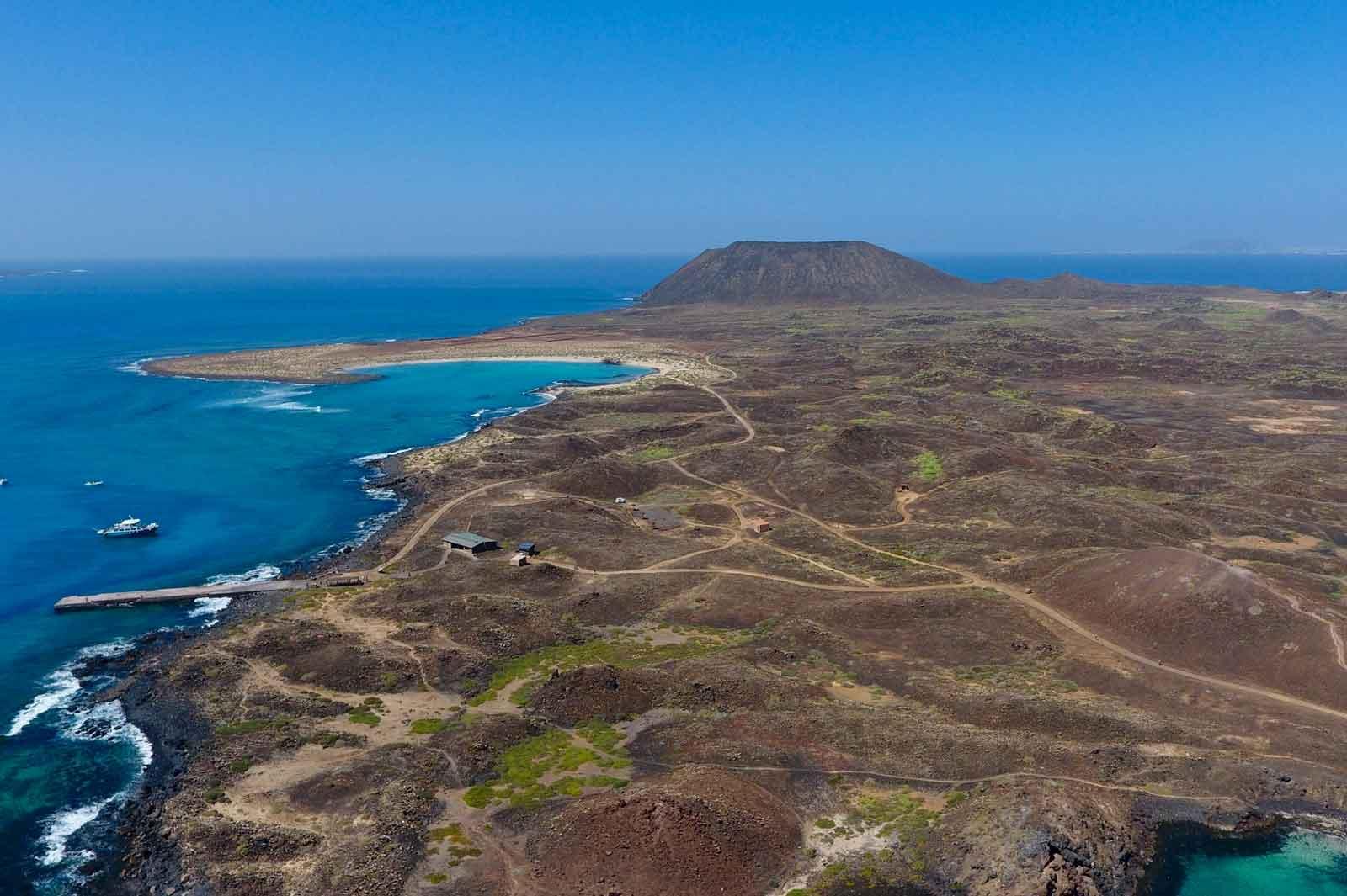 Foto aerea de Isla de Lobos de JP